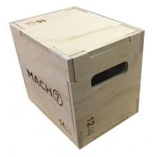 """קופסת קפיצה מעץ מלא 35*40*50 ס""""מ"""