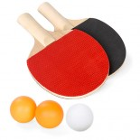 סט מחבטים וכדורים לטניס שולחן