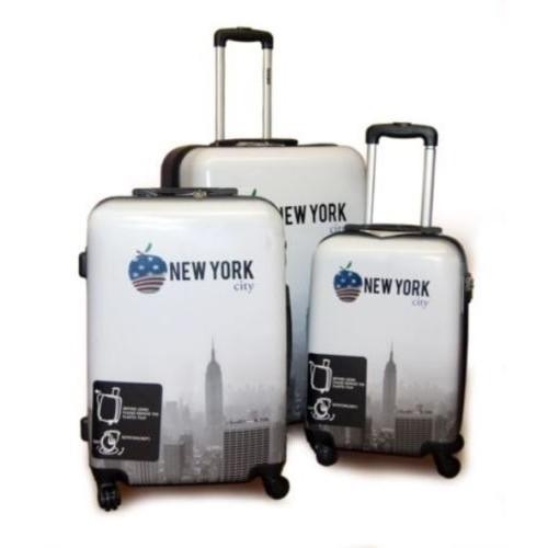 סט מזוודות 3 יחידות 19/24/27 inch עיצוב ניו יורק