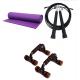 מזרון יוגה PVC + דילגית + Pushup Bars